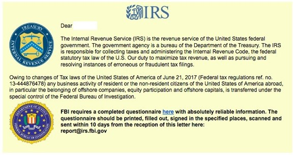 The IRS Issued An Urgent Warning Against An IRS / FBI-Themed Ransomware Phishing Attack