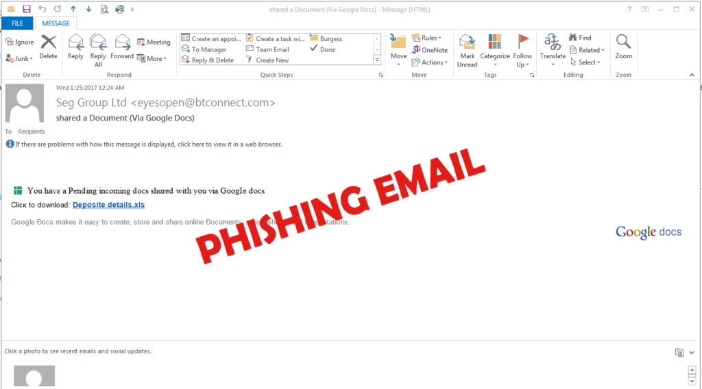 Tips on Identifying Phishing Emails